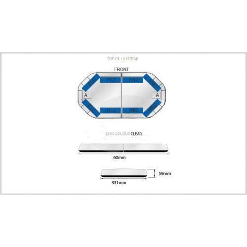 Rampe LegiFit 60cm - Leds Bleues/Capot Clair