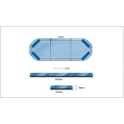 Rampe LegiFit 93cm - Leds Bleues/Capot Bleu
