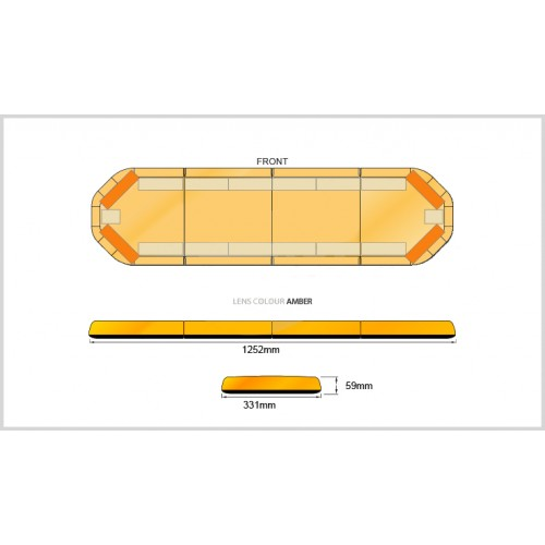 Rampe LegiFit 125cm - Leds Ambre/Capot Ambre