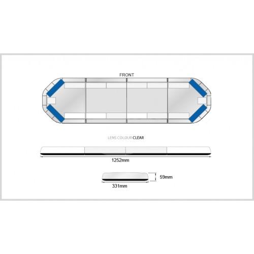Rampe LegiFit 125cm - Leds Bleues/Capot Clair
