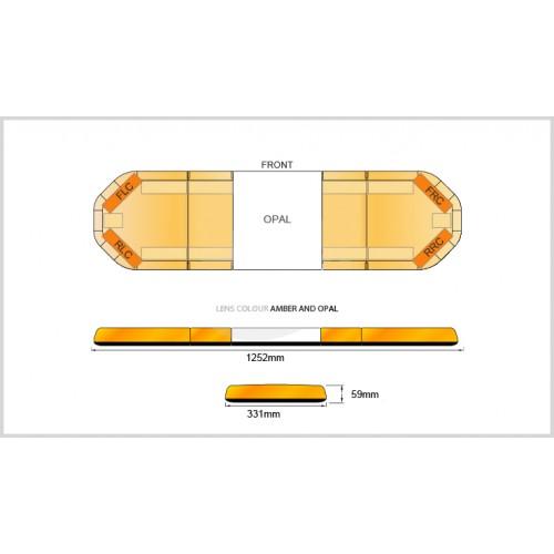 Rampe LegiFit 125cm - Leds Ambres/Capot AmbreOpal