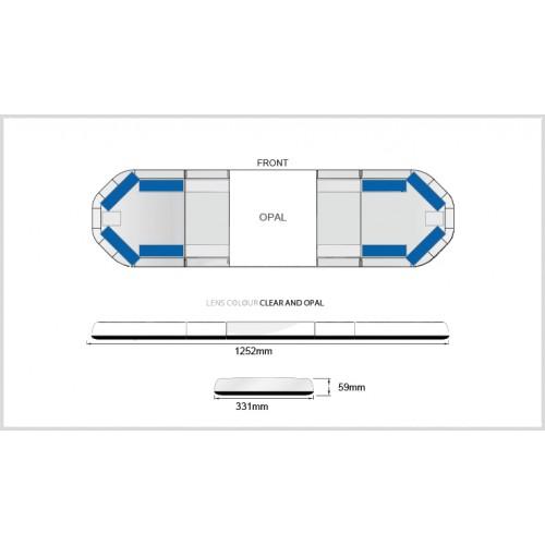 Rampe LegiFit 125cm - Leds Bleues/Capot ClairOpal