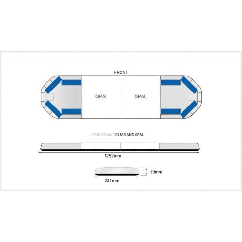 Rampe LegiFit 125cm - Leds Bleues/Capot ClairOpalLarge