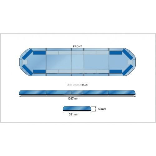Rampe LegiFit 139cm - Leds Bleues/Capot Bleu