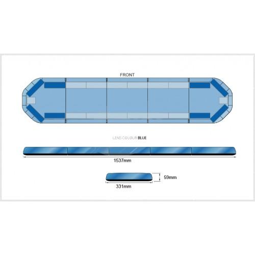 Rampe LegiFit 154cm - Leds Bleues/Capot Bleu