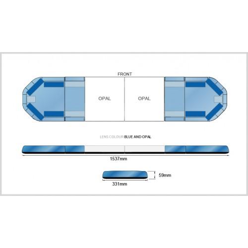 Rampe LegiFit 154cm - Leds Bleues/Capot BleuOpalLarge