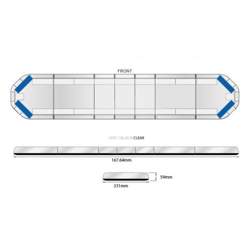Rampe LegiFit 168cm - Leds Bleues/Capot Clair