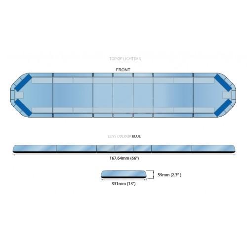 Rampe LegiFit 168cm - Leds Bleues/Capot Bleu