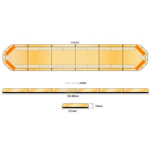 Rampe LegiFit 183cm - Leds Ambres/Capot Ambre