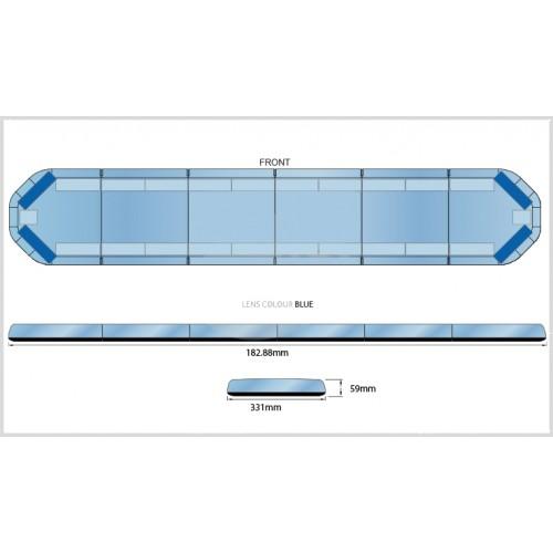 Rampe LegiFit 183cm - Leds Bleues/Capot Bleu