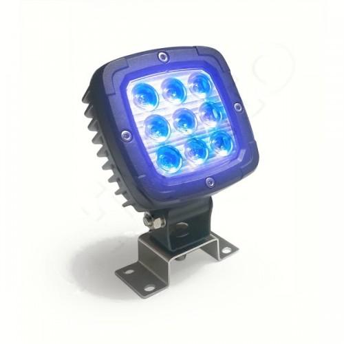 Phare de travail carré à 9 Leds éclairage bleu