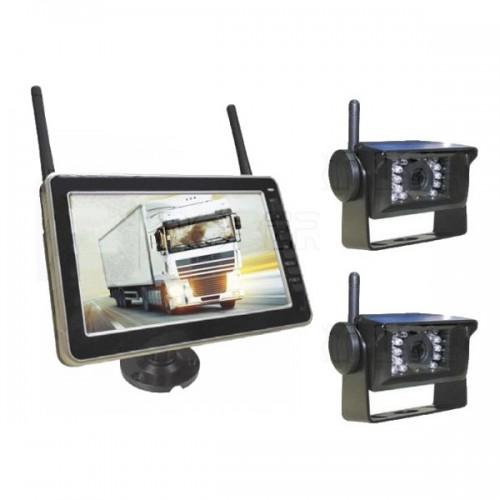 Kit de rétrovision sans fil avec 2 caméras