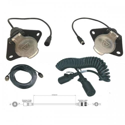 Liaison semi-remorque pour kits rétrovision