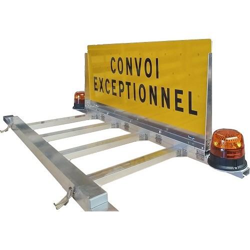 """Panneau """"CONVOI EXCEPTIONNEL"""" ou """"CONVOI AGRICOLE"""" à relevage manuel"""