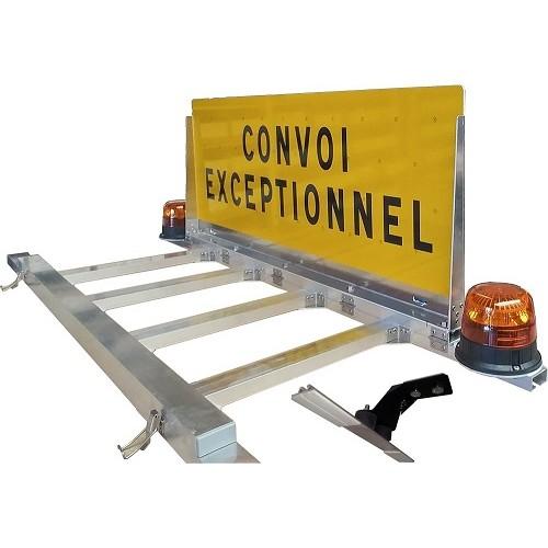 """Panneau """"CONVOI EXCEPTIONNEL"""" ou """"CONVOI AGRICOLE"""" PATTES A COLLER"""